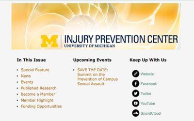 U-M Injury Prevention Center Newsletter Winter 2017