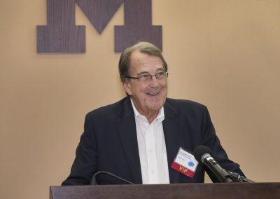 Former U-M football coach Lloyd Carr at University of Michigan Injury Center Sport Concussion Summit