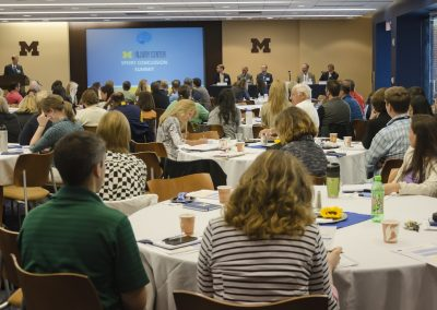 The U-M Injury Center Sport Concussion Summit drew physicians, public health practitioners, athletic trainers, researchers, and many more.