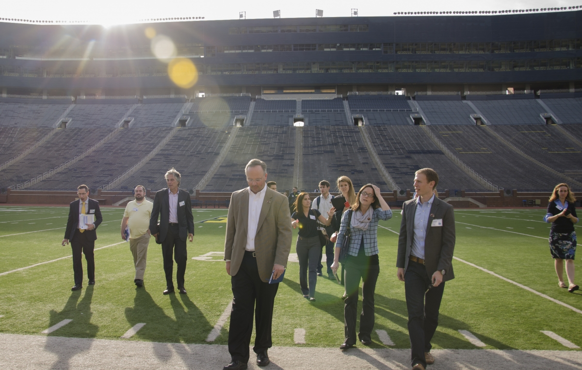 Field Tour in Michigan Stadium