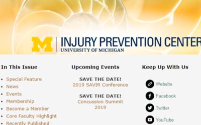 U-M Injury Prevention Center Newsletter December 2018