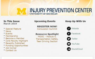 U-M Injury Prevention Center Newsletter March 2019