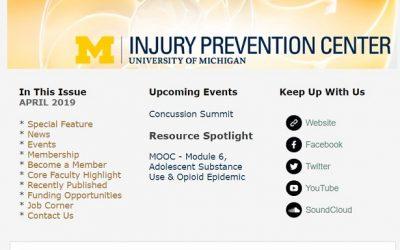 U-M Injury Prevention Center Newsletter April 2019