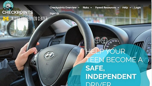 dashboard with hands - Checkpoints website home