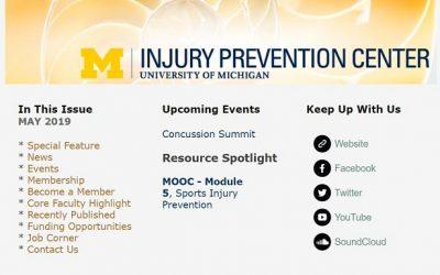 U-M Injury Prevention Center Newsletter May 2019