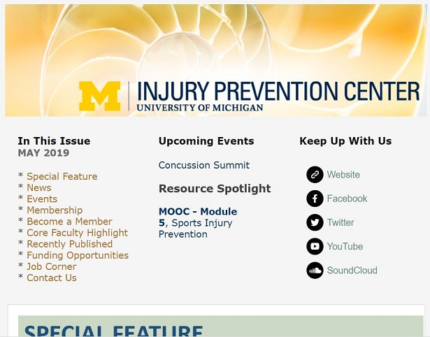 May 2019 UM IPC Newsletter top