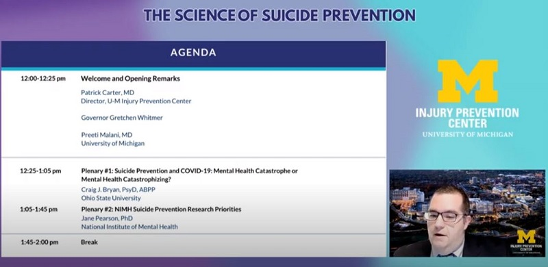 Suicide summit agenda Pat Carter