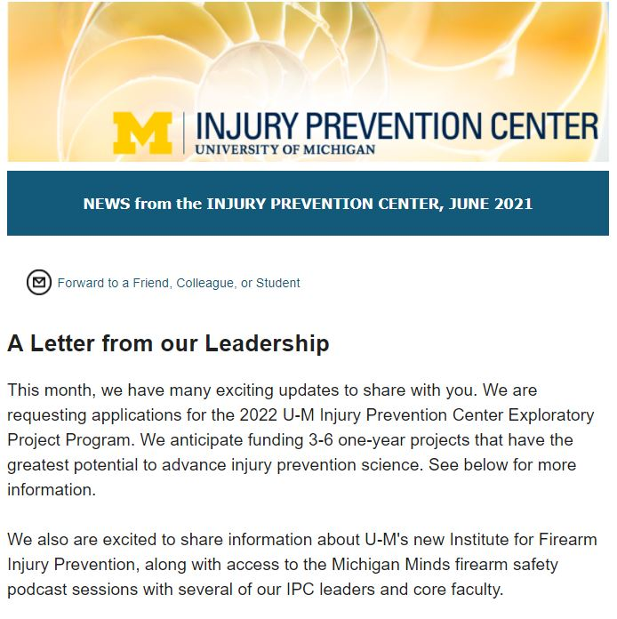 IPC June Newsletter top section