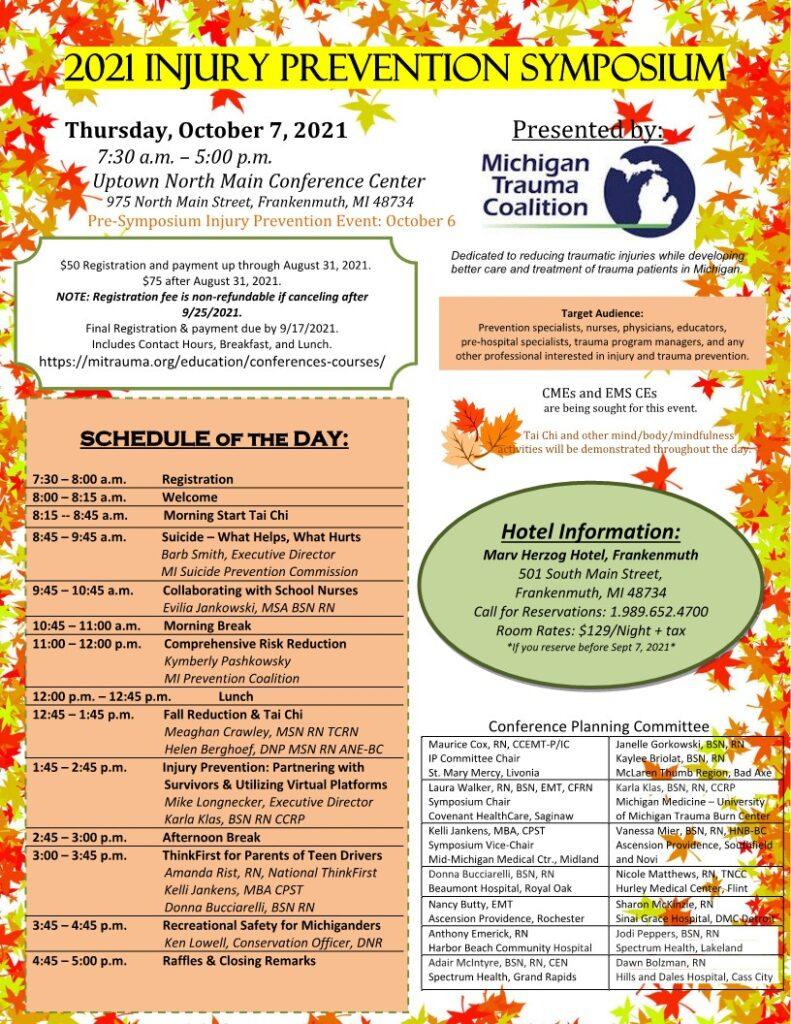 2021 flyer Michigan Trauma Coalition