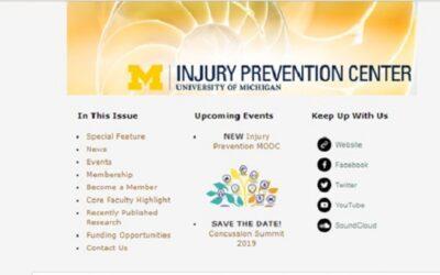 U-M Injury Prevention Center Newsletter October 2018