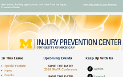U-M Injury Prevention Center Newsletter November 2018