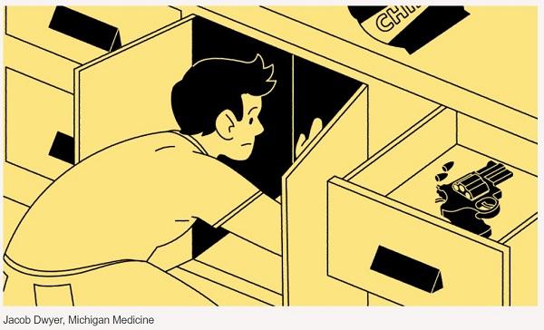 teen-searching-in-cabinet-firearm-in-drawer